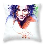 Ani Difranco Throw Pillow by Ken Meyer jr