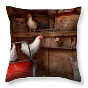 Animal - Chicken - The Duck Is A Spy  Throw Pillow by Mike Savad