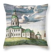 Annapolis, Maryland, 1786 Throw Pillow by Granger