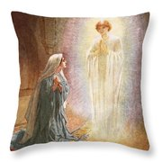 Annunciation Throw Pillow by William Brassey Hole
