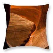 Antelope Canyon No 3 Throw Pillow by Adam Romanowicz