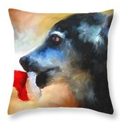 Anticipating Christmas Throw Pillow by Jai Johnson