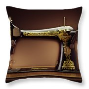 Antique Singer Sewing Machine Throw Pillow by Kelley King