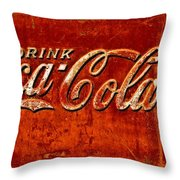 Antique Soda Cooler 3 Throw Pillow by Stephen Anderson