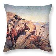 Apache Ambush Throw Pillow by Frederic Remington