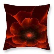 Apo Oriental Poppy Throw Pillow by Peggi Wolfe