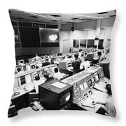 Apollo 8: Mission Control Throw Pillow by Granger