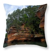 Apostle Islands National Lakeshore Throw Pillow by Larry Ricker
