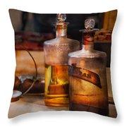 Apothecary - Magic Elixir Throw Pillow by Mike Savad