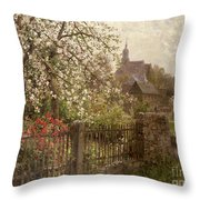 Apple Blossom Throw Pillow by Alfred Muhlig