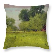 Apple Orchard Throw Pillow by George Snr Inness
