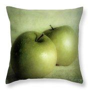 Apple Painting Throw Pillow by Priska Wettstein