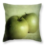 Apple Painting Throw Pillow by Priska Wettstein