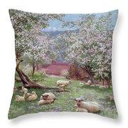 Appleblossom Throw Pillow by William Biscombe Gardner