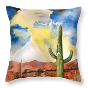 Approaching Monsoon Throw Pillow by Sharon Mick