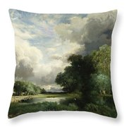 Approaching Storm Clouds Throw Pillow by Thomas Moran
