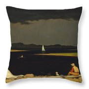 Approaching Thunderstorm Throw Pillow by Martin Heade