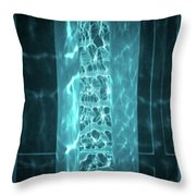 Aqua Drapes Throw Pillow by Wim Lanclus