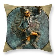 Arapaho Dancer from Snowy Range Life  Throw Pillow by Dawn Senior-Trask
