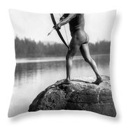 Archery: Nootka Indian Throw Pillow by Granger