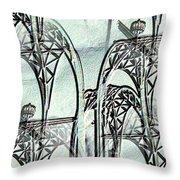 Arches 4 Throw Pillow by Tim Allen