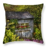 Architecture - A Summers Dream  Throw Pillow by Mike Savad