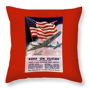 Army Air Corps Recruiting Poster Throw Pillow by War Is Hell Store