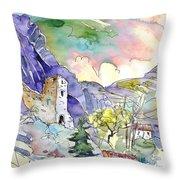 Arnedillo In La Rioja Spain 03 Throw Pillow by Miki De Goodaboom