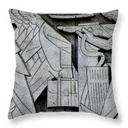Art Deco 9 Throw Pillow by Andrew Fare