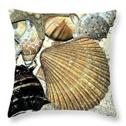Art Shell 2 Throw Pillow by Stephanie Troxell