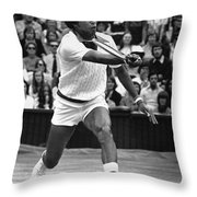 ARTHUR ASHE (1943-1993) Throw Pillow by Granger