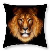 Artistic Lion Throw Pillow by Aimelle