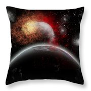 Artists Concept Of Cosmic Contrast Throw Pillow by Mark Stevenson