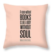 Marcus Tullius Inspirational Quote Throw Pillow by Lab No 4 - The Quotography Department