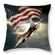 American Feedom  Throw Pillow by Regina Femrite
