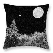Winter's Night Throw Pillow by Methune Hively