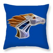 Glowing Bronco Throw Pillow by Shane Bechler