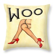 Woo Throw Pillow by Ethna Gillespie