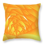 As The Cyber Sun Shrinks And Sets Throw Pillow by Michael Skinner