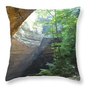 Ash Cave Throw Pillow by Mindy Newman