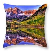 Aspen Wonder Throw Pillow by Scott Mahon