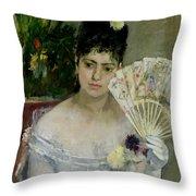 At The Ball Throw Pillow by Berthe Morisot