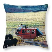 At The Cody Rodeo Throw Pillow by Jan Amiss Photography