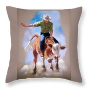At The Rodeo Throw Pillow by Joyce Geleynse
