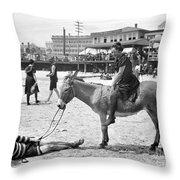 Atlantic City: Donkey Throw Pillow by Granger