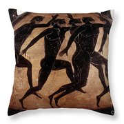 Attic Black-figured Vase Throw Pillow by Granger