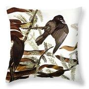 AUDUBON: CROW Throw Pillow by Granger