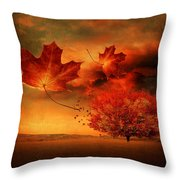 Autumn Blaze Throw Pillow by Lourry Legarde