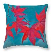 Autumn Crimson Throw Pillow by William Jobes