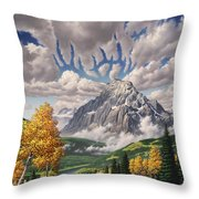 Autumn Echos Throw Pillow by Jerry LoFaro